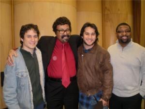 con Prof. David Baker y asistente