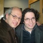 Con el director Gustavo Dudamel